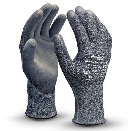 Перчатки МАНИПУЛА Стилкат ПУ 5 HPP-107