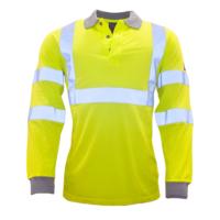 Огнестойкая антистатическая светоотражающая рубашка поло с длинными рукавами PORTWEST PW-FR77