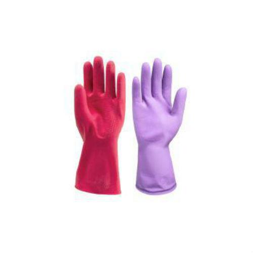 АЗРИ Перчатки резиновые хозяйственные с ворсовой подложкой