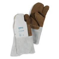 Перчатки TEMPEX трехпалые кожаные
