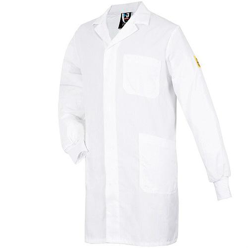 Мужской рабочий халат CONDUCTEX с длинным рукавом и трикотажными манжетами