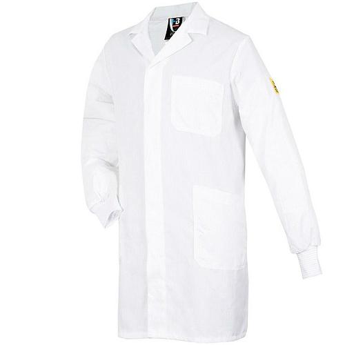 Мужской рабочий халат NAPTEX с длинным рукавом и трикотажными манжетами