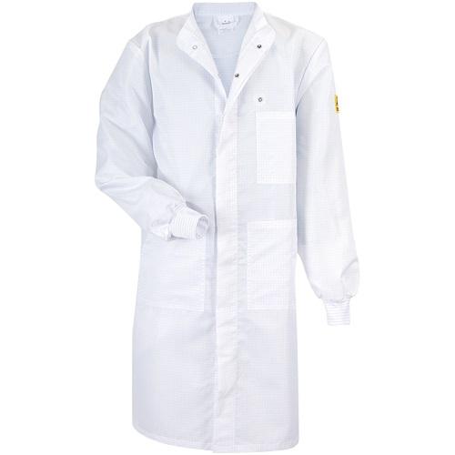 Мужской рабочий халат CLEANTEX с длинными рукавами с трикотажными манжетами