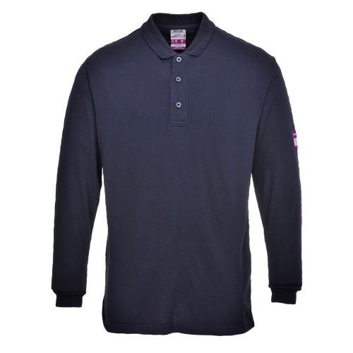 Огнестойкая антистатическая футболка-поло PORTWEST с длинными рукавами PW-FR10
