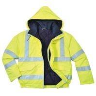 Светоотражающая антистатическая огнестойкая водонепроницаемая куртка бомбер PORTWEST Bizflame PW-S773