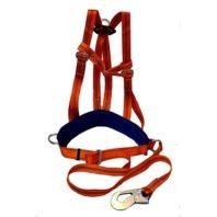 Удерживающая страховочная привязь с наплечными лямками УПС 2АД (строп лента) (Пояс предохранительный ПП-2АД)