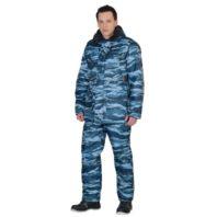 Костюм БЕЗОПАСНОСТЬ зимний: куртка, п/комб. КМФ серый вихрь 04263