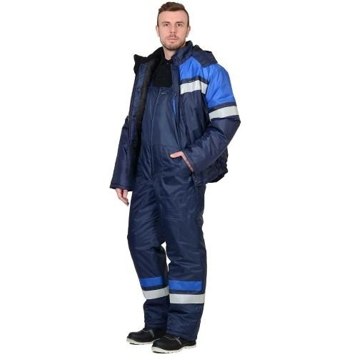 Костюм ОРБИТА зимний: куртка, п/комб. синий с васильковым и СОП 02705