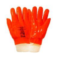 Перчатки ПВХ утеплённые бензомаслостойкие ПЛАМЯ, манжет-резинка, арт. 3001
