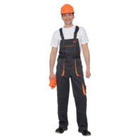 Полукомбинезон CROWN черный с оранжевым 01683