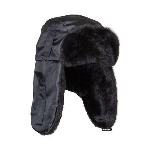 Шапка-ушанка ЕВРО черная 109336