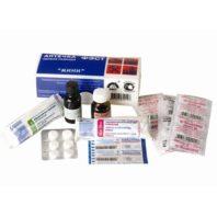Аптечка ФЭСТ-МИНИ первой помощи для индивидуального пользования (футляр-коробка из пластика) 86762