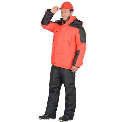 Куртка зимняя рабочая ЕВРОПА красная 09364