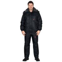 Куртка СИРИУС ПОЛЮС черная зимняя рабочая мужская 05556