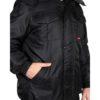 Куртка ПОЛЮС черная зимняя рабочая мужская 05556