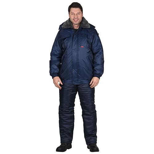 Куртка ПОЛЮС темно-синяя зимняя рабочая мужская 01033