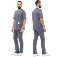 Костюм LL6201 ГРЕЙ мужской (блуза и брюки) 171957