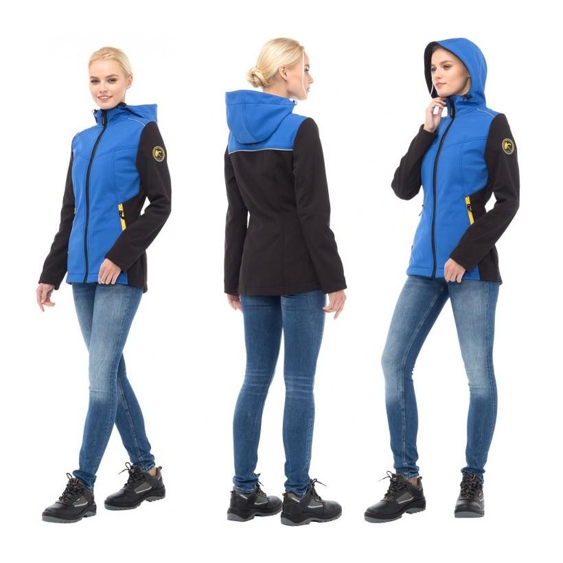 Куртка ТАЙМ женская синяя софтшелл 171822