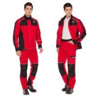 Летний костюм СТАРТ красный мужской (куртка+брюки) 171829