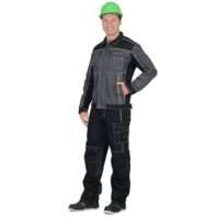 Куртка СИРИУС ПРЕСТИЖ серый с черным и желтым 01494