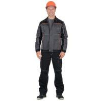 Куртка СИРИУС ПРЕСТИЖ серый с черным и оранжевым 01407