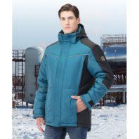 Куртка зимняя КОРСАР морская волна с черным 172746